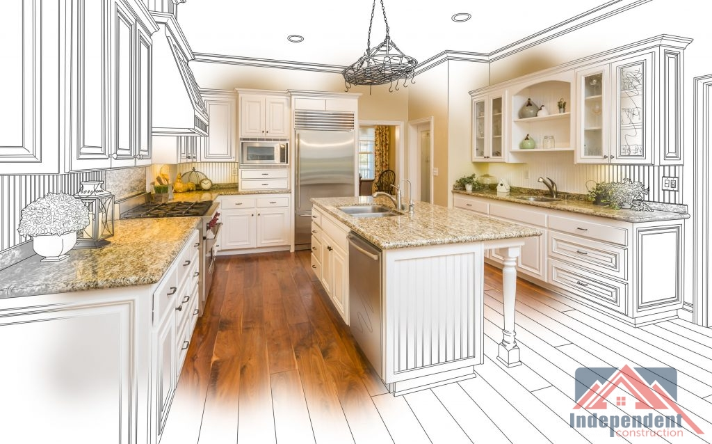 kitchen remodel drawing