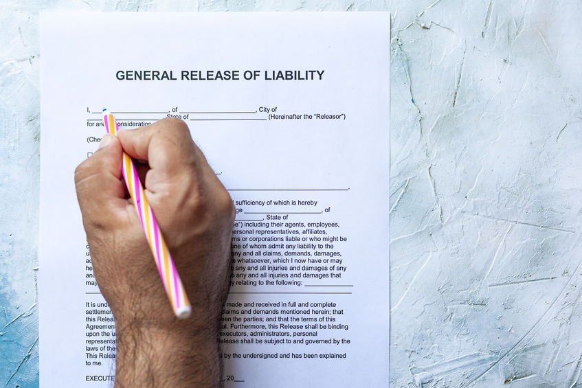 General Contracting Liability Form