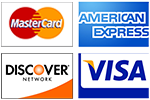 Payment Method - Credit Cards Accepted - Mastercard, Visa, American Express, Discover