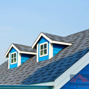 Residential Roof on Blue Home